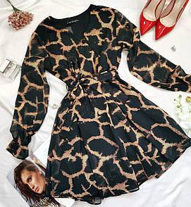 Жіноча коротка сукня леопардова