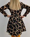 Жіноча коротка сукня леопардова, фото 3
