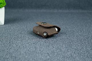 Чехол для AirPods 1, AirPods 2, матовая Винтажная кожа, цвет Шоколад, оттиск №4, фото 2