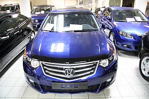 Дефлектор капота Honda Accord/Хонда Аккорд 2008-2013 Хик на крепежах
