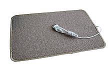 Электро-коврик с подогревом (коричневый, закругленные углы, 50 x 33 см) электрический Трио 01502, Коврики с