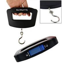 Кантер ручные электронные весы для багажа с подсветкой Luggage Scale 50kg (1522 ACS A09) ручні ваги, Весы