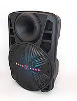 Колонка акумуляторная ALP-803 10W колонка чемодан с светомузыкой и микрофоном USB SD FM черная