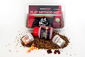 Методный пелети, флет метод мікс Strawberry (Полуниця) Carp Drive 5 в 1