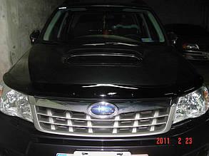Дефлектор капота Subaru Forester/Субару Форестер 2008-2013 Хік на кріпленнях