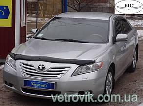 Дефлектор капота Toyota Camry/Тойоту Камри 40 2006-2011  Euro Хик на крепежах