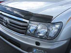 Дефлектор капота  Toyota Land Cruiser/Тойоту Ленд Крузер 100 1998-2004 Хик на крепежах