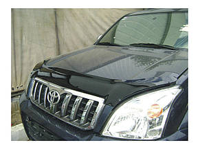 Дефлектор капота Toyota Land Cruiser Prado/Тойоту Ленд Крузер Прадо 120 2003-2010 Хик на крепежах