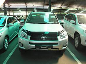 Дефлектор капота  Toyota RAV4 /Тойоту Рав 4 2006-2010 до рестайлинга Хик на крепежах