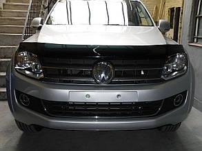 Дефлектор капота Volkswagen Amarok/Фольксваген Амарок с 2009 Хик на крепежах