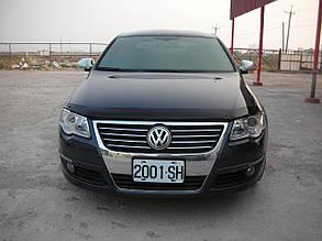 Дефлектор капота Volkswagen Passat/Фольксваген Пассат Б6 2006-2011 Хик на крепежах