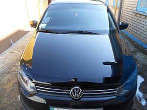 Дефлектор капота Volkswagen Polo/Фольксваген Поло с 2010 Хик на крепежах