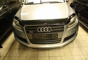 Дефлектор капота  на Audi Q7 /Ауди Ку7 2005-2015 Хик на крепежах