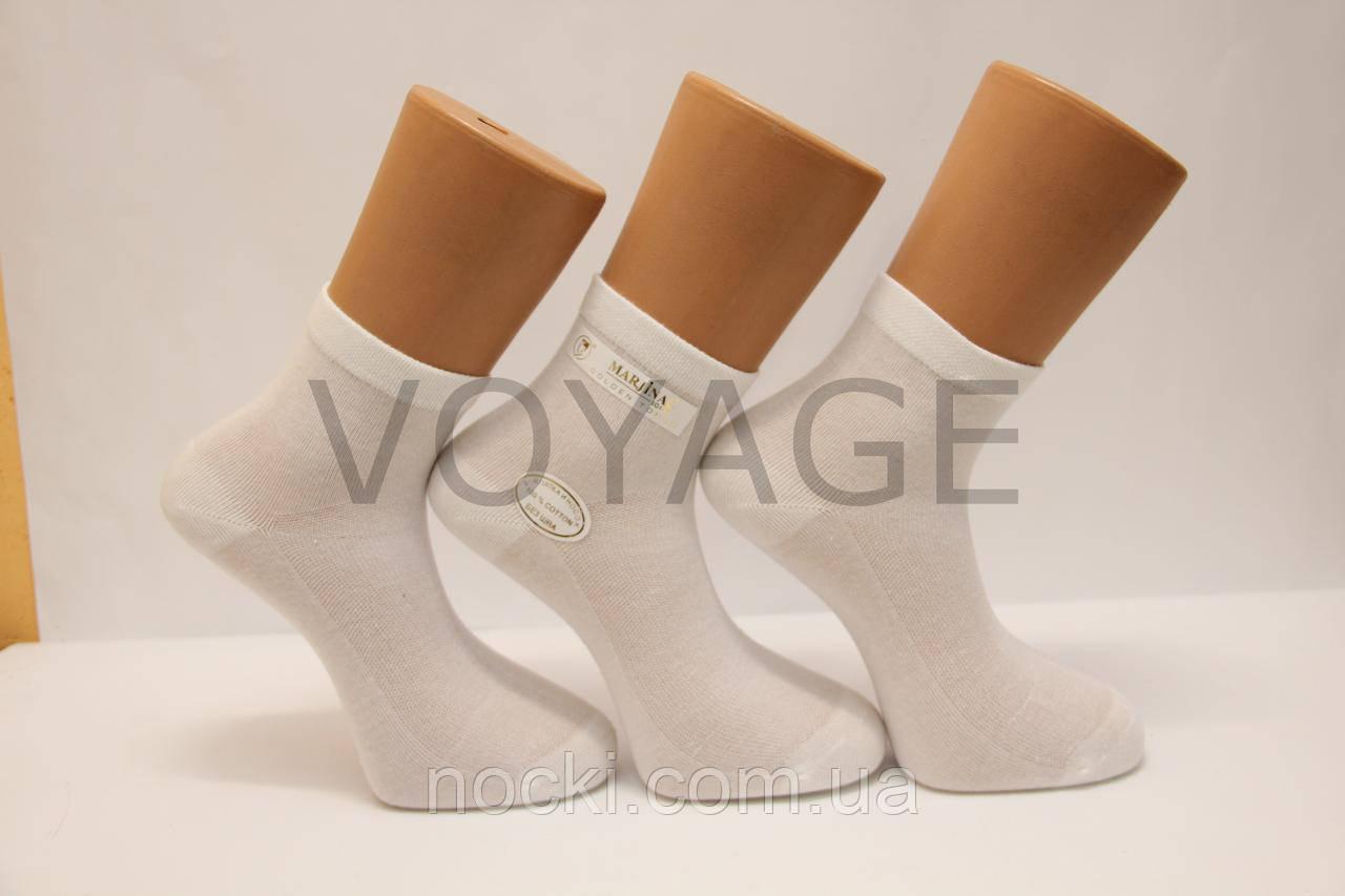 Чоловічі шкарпетки середні-з бавовни в сіточку,кеттельний шов МАРЖІНАЛ 40-45 білий