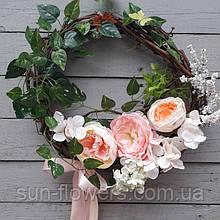 Весняний вінок декоративний(великодній)