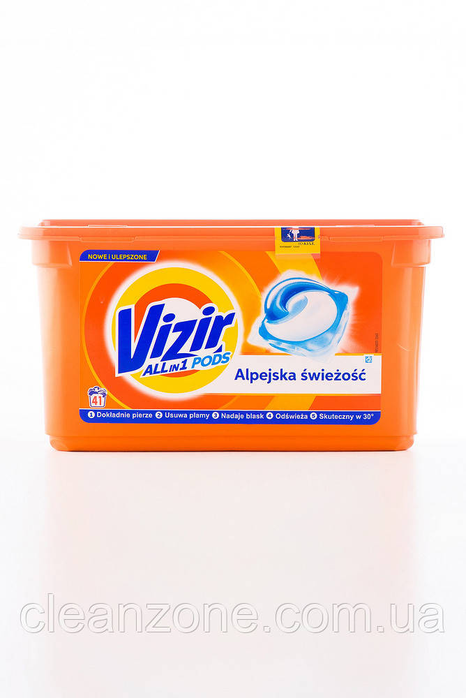 - VIZIR 3 in 1 капсула (41*24,8) ALPINE FRESH