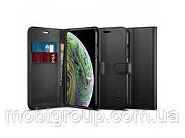 Книжка-Чохол Spigen для iPhone XS/X Wallet S, Black (063CS25120)