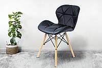 Кресло JUMI Scandinavian Design Black Мебель для дома и дачи в Скандинавском стиле Экокожа Кресло Черное