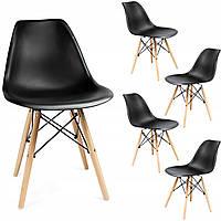 Кресло JUMI Scandinavian Design Black Мебель для дома и дачи в Скандинавском стиле Черное