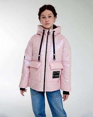 Ника розовая детская подростковая куртка демисезонная для девочки