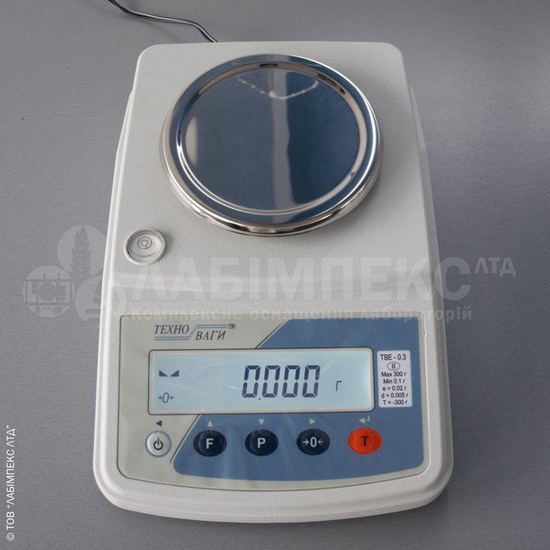 Весы лабораторные ТВЕ 03-001-а-2, 300 г х 0.01 г, 2 кл, внутренняя калибровка