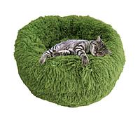 Спальные места для домашних животных диаметр 40 см. Пушистый лежак, матрас для маленьких собак и кошек.