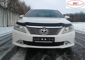 Дефлектор капота Toyota Camry /Тойоту Камри 50 2011-2014 до рестайлинга Хик на крепежах