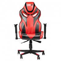 Кресло геймерское Cyber EX RED игровое компьютерное раскладное профессиональное Красное