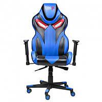 Кресло геймерское Cyber EX BLUE игровое компьютерное раскладное профессиональное Синее