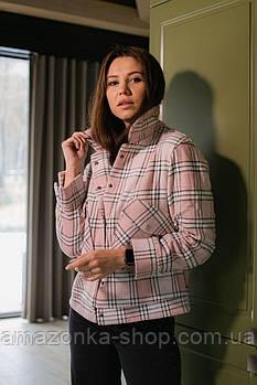 Женская кашемира рубашка-пиджак в клетку 2021