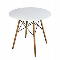 Стол обеденный JUMI Scandinavian Design White 80 см Мебель для дома и дачи в Скандинавском стиле