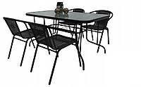 Набор садовой мебели Kontrast Garden Bistro Black-4 Комплект летней мебели для Дачи Сада Кафе