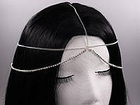 Красиве прикраса на голову зі стразами (Срібло) №18, фото 1