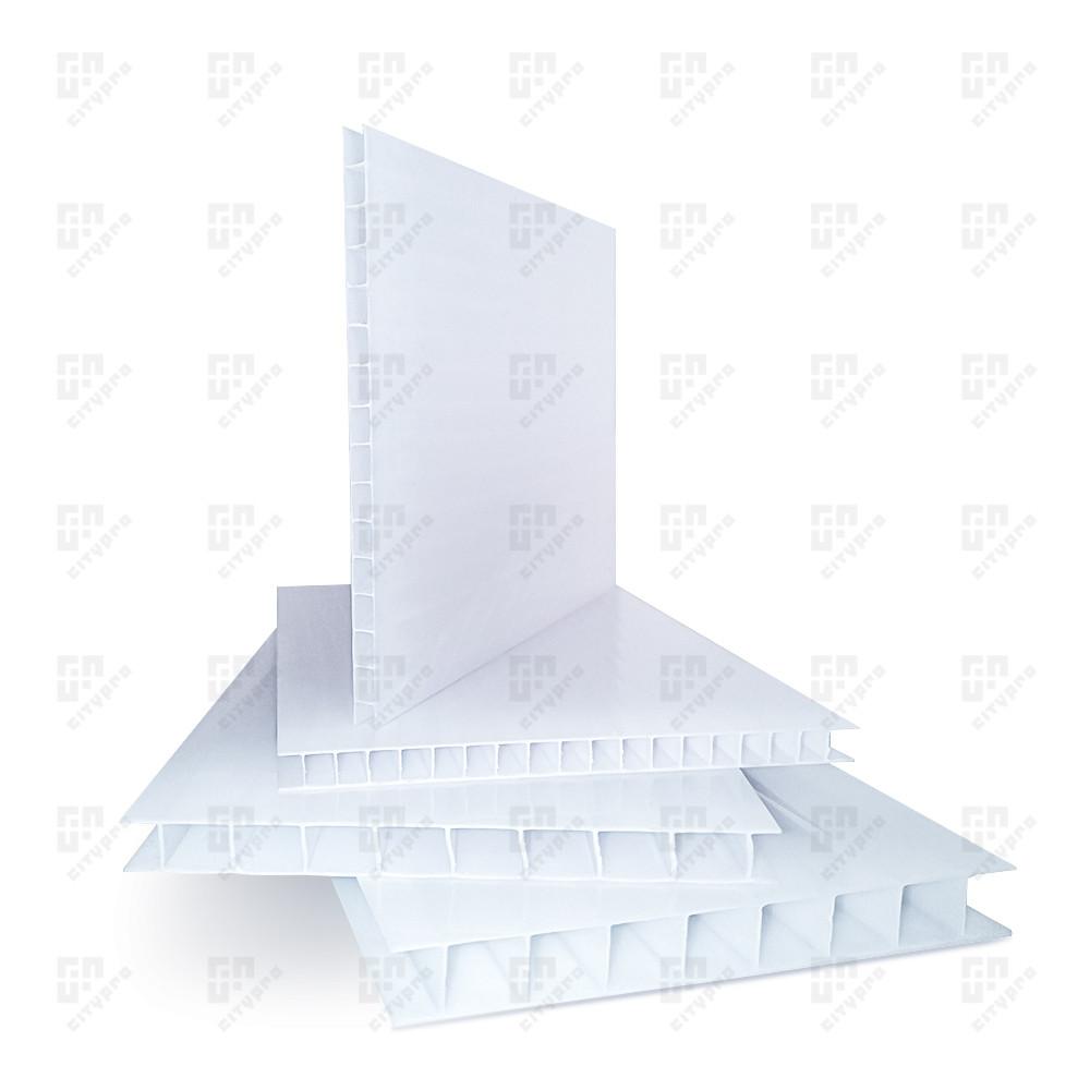 Сотовый поликарбонат Полигаль, опал 25%, лист 2.1 х 12 м, 10 мм