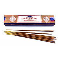 Благовония Ароматная мирра (Fragrant Myrrh) индийские аромапалочки для медитации