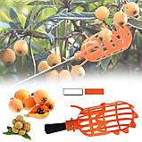 Інструмент для збору ягід і фруктів, плодознимач, кошик - збирач плодів з дерев, фото 3
