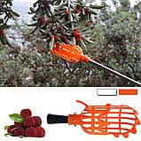 Інструмент для збору ягід і фруктів, плодознимач, кошик - збирач плодів з дерев, фото 4