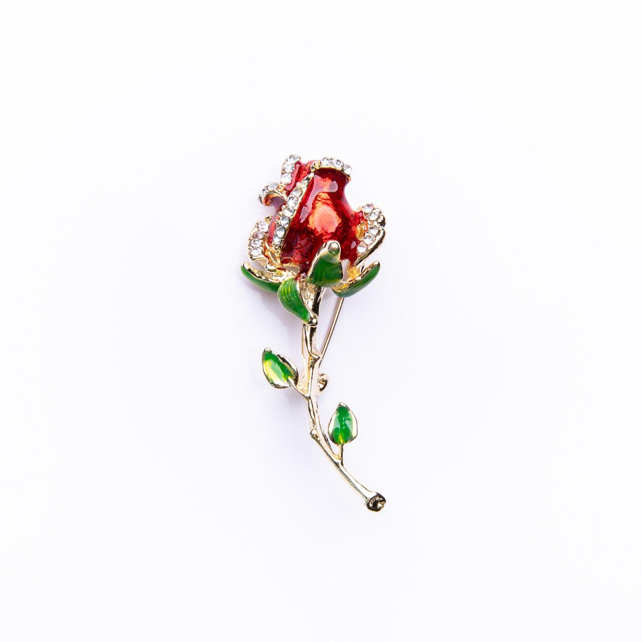 """Брошка на шпильці """"Троянда"""" 65х25мм"""
