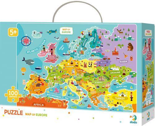 """Пазлы """"Карта Европы"""", 100 элементов 300124"""