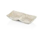 25217WG Соусник подвійний білий Granite 17,5 x 8,7 x 3,4 см.