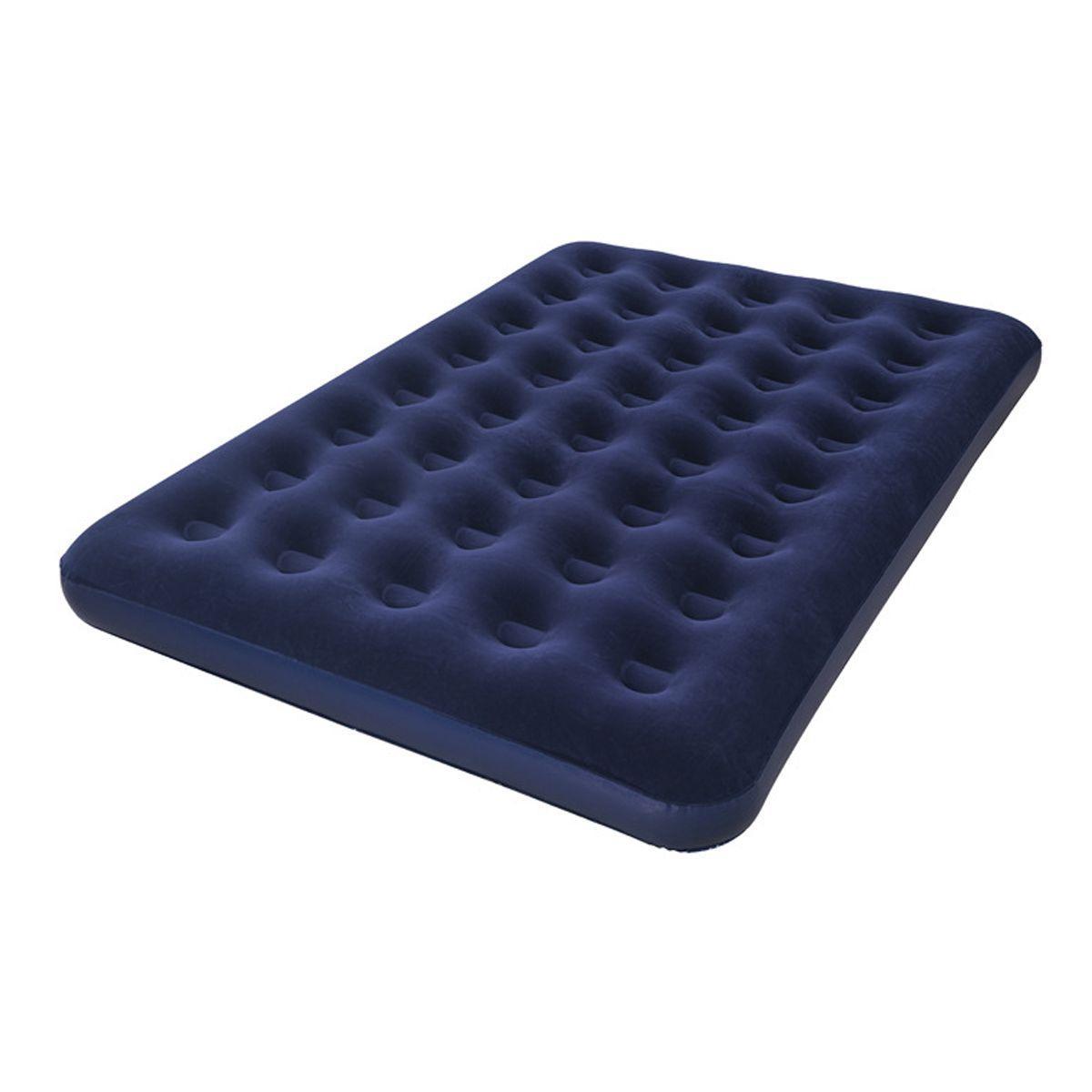 Двухместный надувной матрас для сна 203x152x22 см, синий