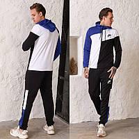 Трикотажный мужской двухцветный спортивный костюм.  цвета!