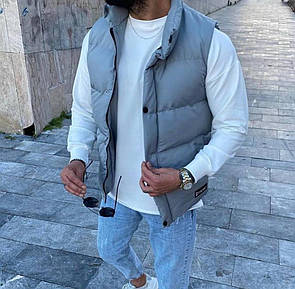 Мужской серый жилет
