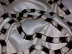 Тасьма декоративна CTU 0670 чорн/біл