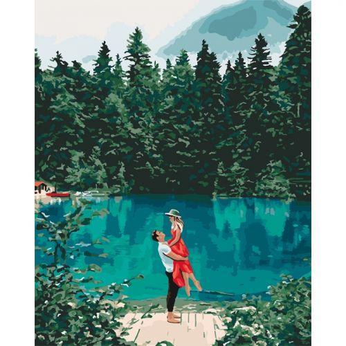 """Картина за номерами """"Побачення біля озера"""" ★★★★★ КНО2271"""