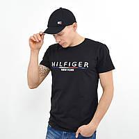 Чоловіча футболка Tommy Hilfiger (репліка) чорний, фото 1