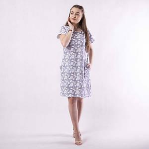 """Жіноче літнє плаття """"Човник"""" 44-52р."""