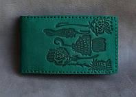 Визитница кожаная женская на 36 карт