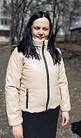 Модная демисезонная женская куртка из эко-кожи (42-44-46-48-50 р), доставка по Украине