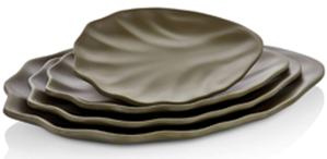 34025BR Тарілка Terra Vinea коричневий 25,5 x 18 x 2,3 див., шт